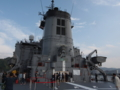 [海上自衛隊][とわだ]補給艦「とわだ」。上部構造を後方より。