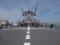 潜水艦救難艦「ちはや」のヘリ甲板。