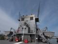 [海上自衛隊][ちはや]「ちはや」煙突を後方より。