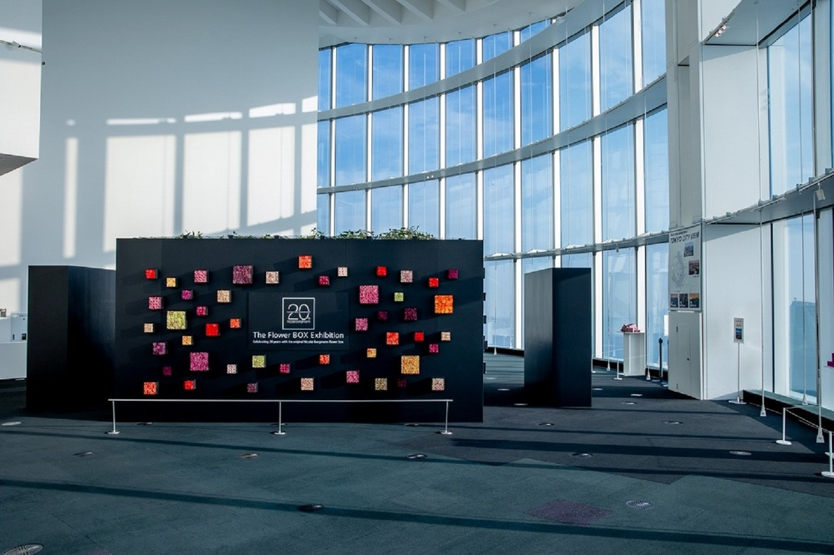 六本木ヒルズで「ニコライ・バーグマン フラワーボックス20周年展覧会」開催中!