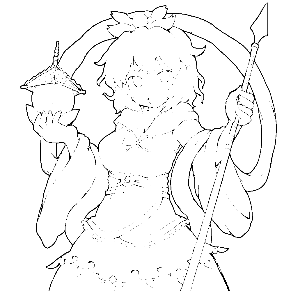 寅丸星の線画