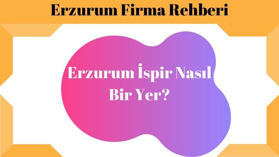 Erzurum İspir Nasıl Bir Yer