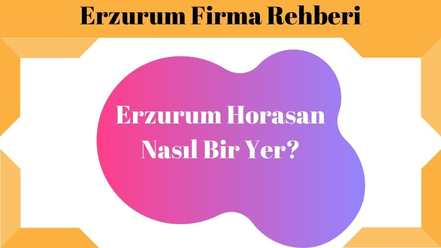 Erzurum Horasan Nasıl Bir Yer
