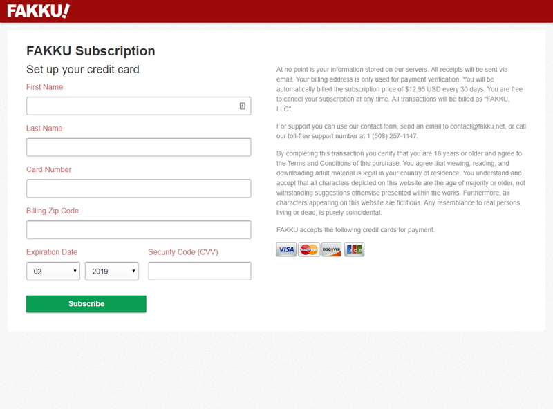 FAKKU Subscription Payment