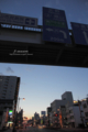 千日前-歩道橋の夕景/岡山市北区天瀬にて