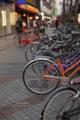 岡山駅前-乱雑な自転車/岡山市北区駅前町にて