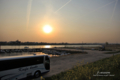 岡山市中区平井の風景写真 - 旭川の風景
