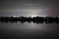 岡山市中区江崎の風景写真 - 夜の旭川