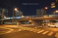 岡山市北区昭和町の風景写真 - The crossing of night