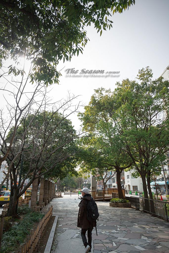 岡山市北区平和町の風景写真 - The person of a park