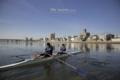 岡山市中区西中島町の風景写真 - Rowing in the morning