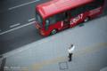 岡山市北区駅元町の風景写真 - The bus of ROUND 1