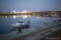 岡山市南区浜野の風景写真 - Neon reflection in the river