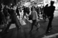 岡山市北区駅前町の風景写真 - People who cross each