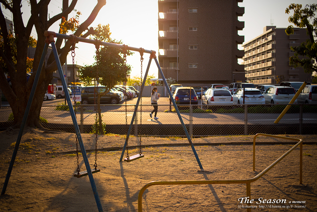 岡山市南区新保の風景写真 - The park of evening