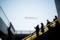 岡山市北区駅元町風景写真 - People of escalator