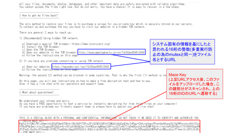 図 12. DECRYPT-FILES.txt の内容