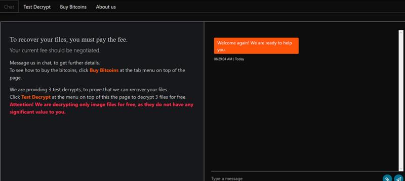 図 15. DECRYPT-FILES.txt をアップロードした後の画面