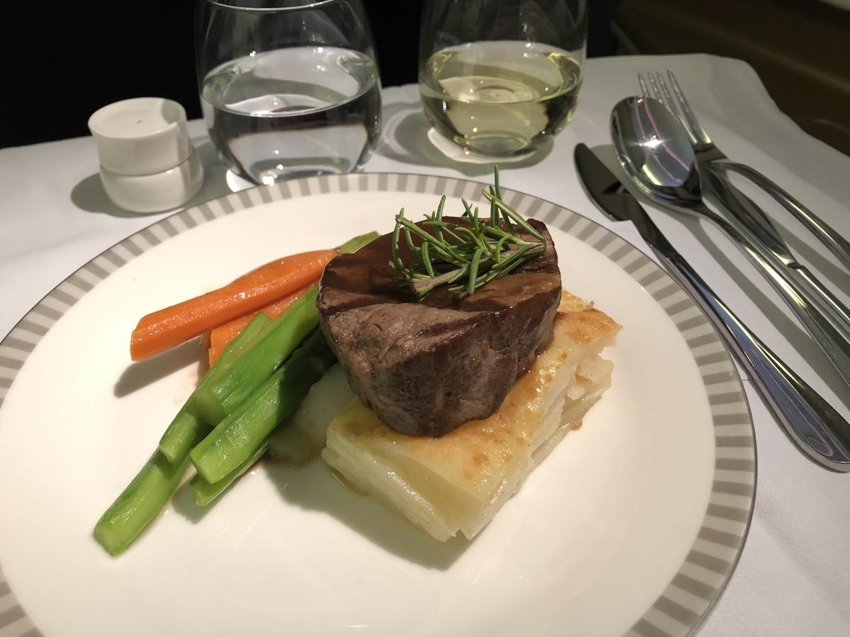 シンガポール航空 / 機内食
