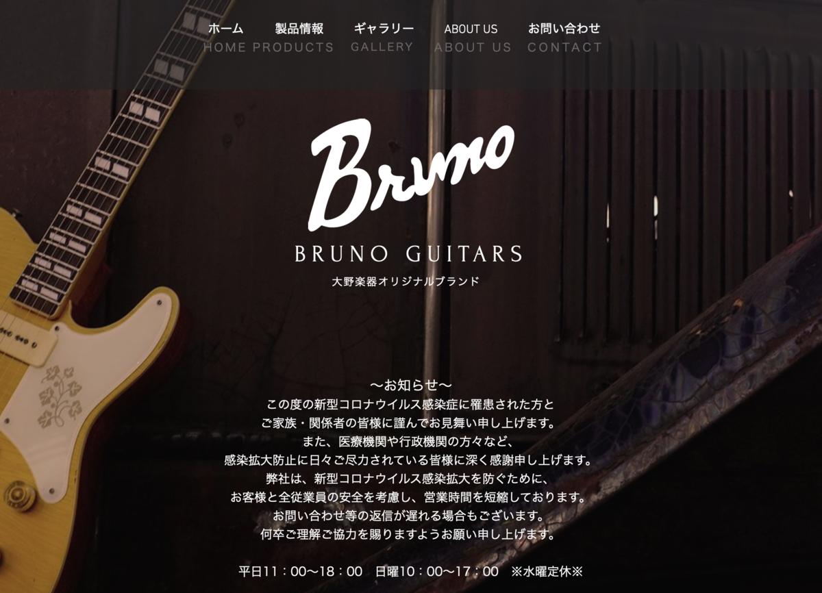 Bruno Guitars TN-295 / 大野楽器HP