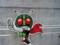 石ノ森漫画館入口の仮面ライダー   津波でかけてる