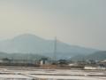 奥羽山脈 蔵王連峰(熊野岳、刈田岳)曇ってて全然見えんwこの写真