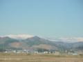 名取市から見た蔵王連峰