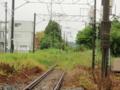 浪江、いわき、上野方面 放置された線路 この先警戒区域