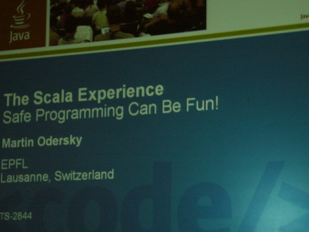 JavaOne2007 4日目 Scalaキター