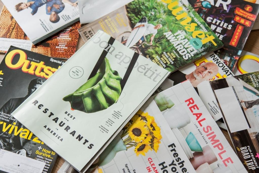 たくさんの雑誌