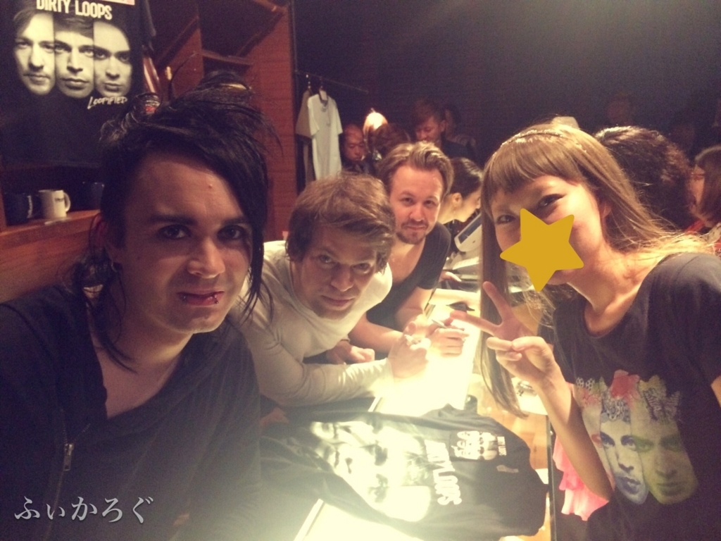 Billboard OsakaにてDirty Loopsと一緒に撮った写真