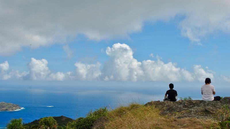 小笠原諸島の山頂からの景色