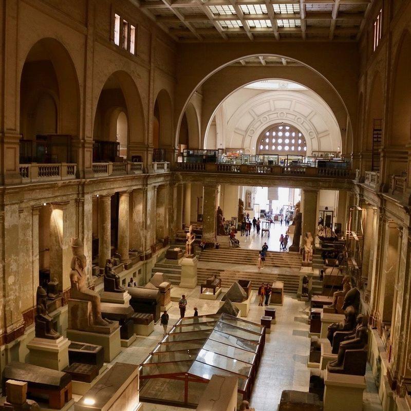 エジプト考古学博物館の内観
