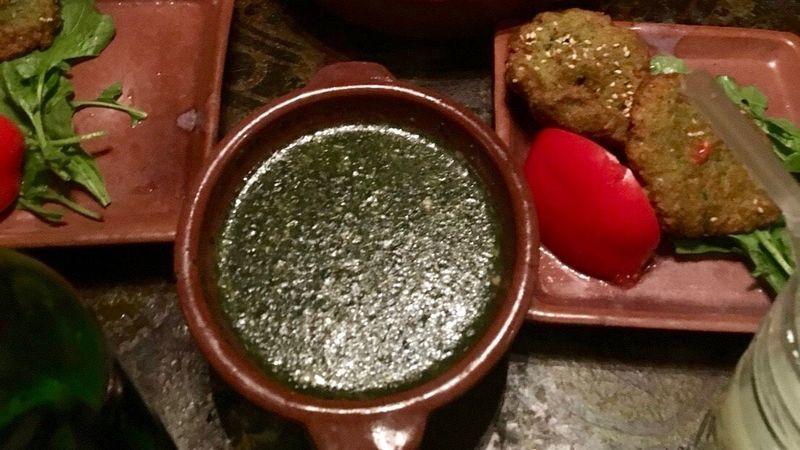 モロヘイヤスープとターメイヤ
