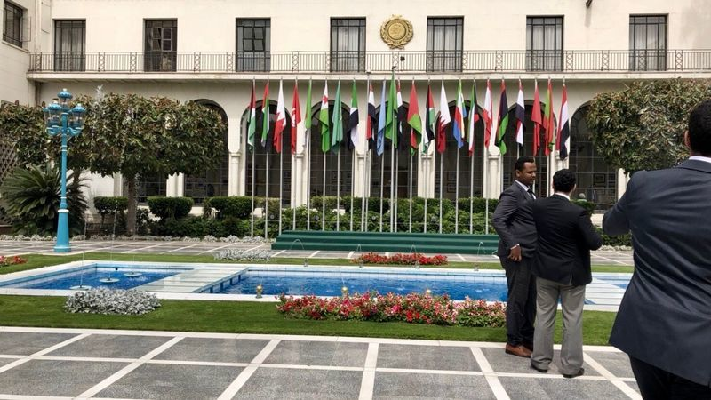 アラブ連盟の庭