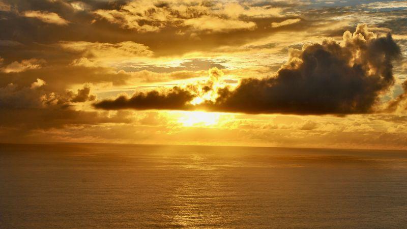 小笠原諸島の夕日