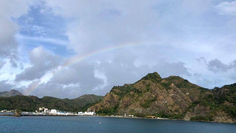 小笠原諸島の虹