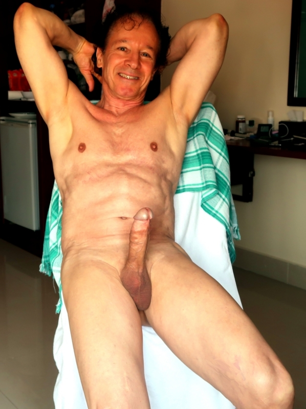 Very excited and erect to be seen nude exposed like that at age 74