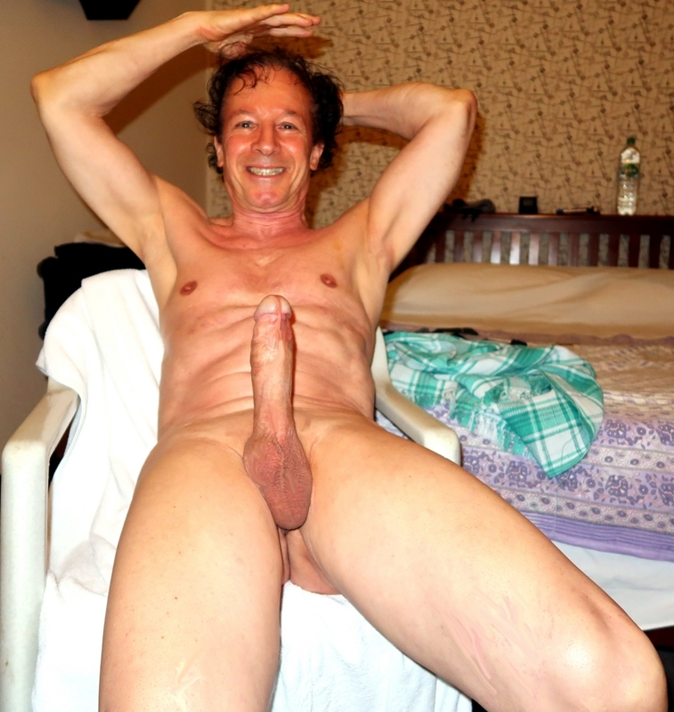 enjoying the excitement to be exposed nude shaved and so erect