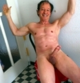 Excited,to expose my nude and shaved body so erect at age 74