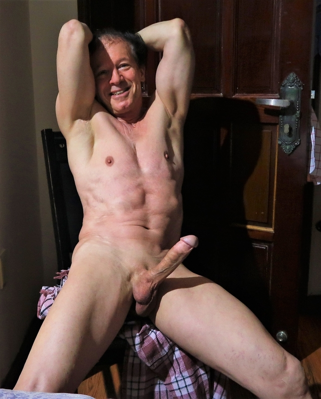 Exposing my erect privacy .so nude and shaved is very exciting at age 75