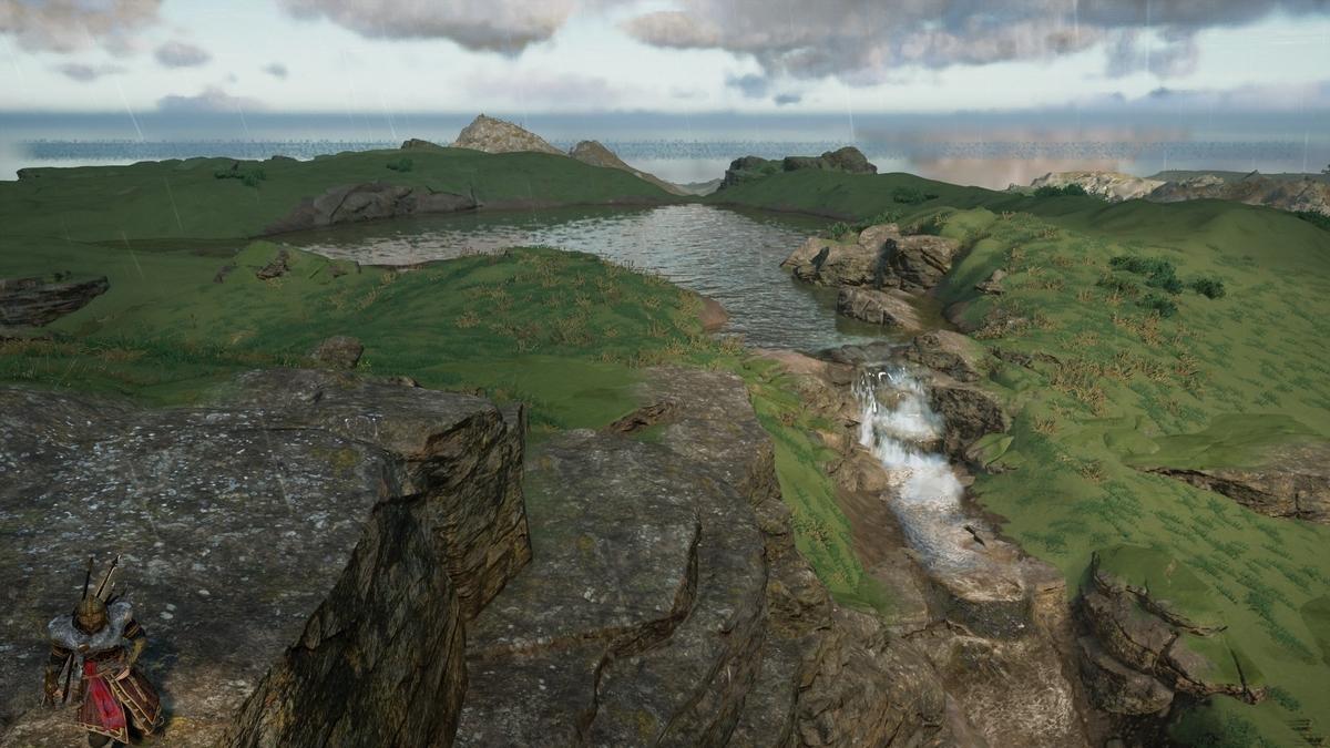 滝の水源の湖