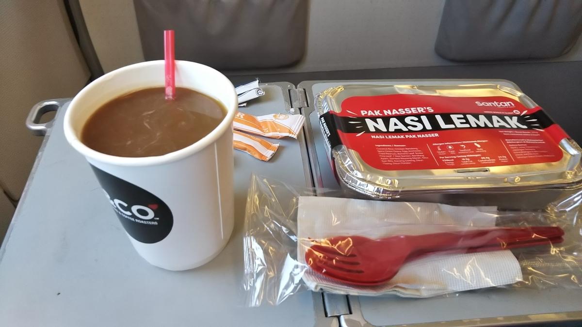 エアアジア 機内食 ナシレマ