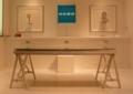 ティーザー企画「明和電機ボイス計画・社長設計室」。素敵な机だ。