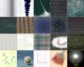 むかし、おえかき掲示板でかきためた、小さな「繊維」シリーズ