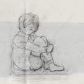 傷つき落ち込んでいる少年のイメージ