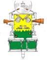 ラテンな打楽器ロボット:ロボブラジルさん
