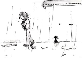 小キャラ 傘…