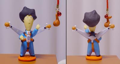 まるやんさんからもらった樹脂粘土人形
