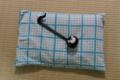 明和的布でピローケース